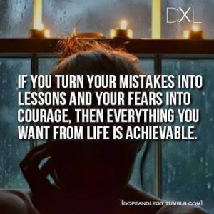 mistakes into lessons