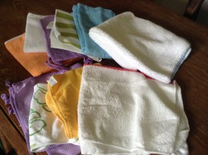 My new microfiber cleaning cloths.