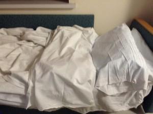 My bunk at the hospital tonight.